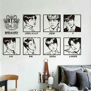 [PO] BTS Wall Decal Sticker