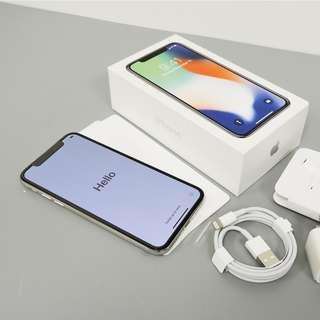 Apple iPhone X - 256GB  - Silver (Factory Unlocked)