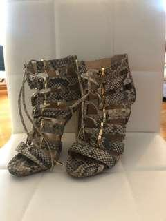 Vince Canute faux snake skin sandals size 5.5