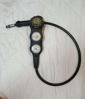 潛水 壓力錶 指北針 深度計 scubapro