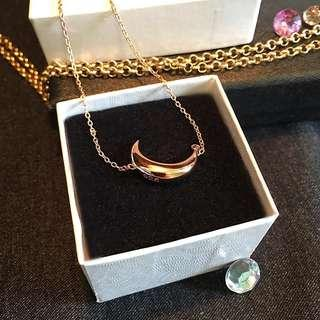 Sterling silver 14 Kt rose gold plated chain 16""