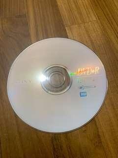Blank Sony DVD+R (re-recordable DVDs)
