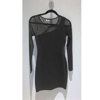 Urban Planet Mesh Black Dress