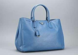 🚚 Prada Galleria in Blue Leather (Large)