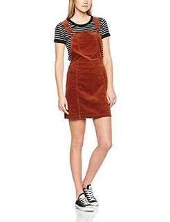 Dorothy perkins brown pinafore dress