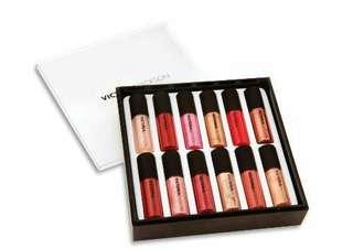 New VICTORIA JACKSON Beauty Lip Gloss 12 piece set #APR75
