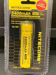 🚚 Nitecore Battery 18650 - 3400mAh