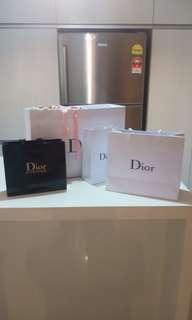 Authentic DIOR paperbag XL L M and DIOR backstage