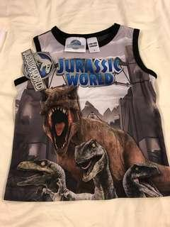 Jurassic World sleeveless T-shirt for boys. Brand new with tag.
