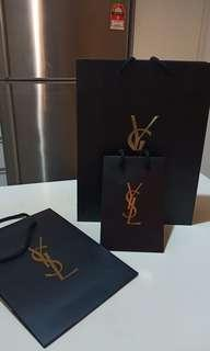 Yves Saint Laurent Shopping paperbag and packaging box