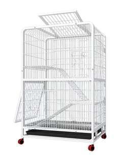 70% 新 三層貓狗寵物籠 4門