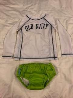 Gap Rashguard and Charlie Banana swim pants for 2T. Size and weight suggestion is in the second picture. Still in very good condition, only used twice. No bargaining please.