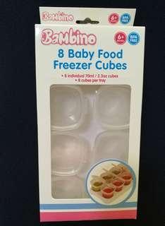 🚚 Baby food freezing cubes