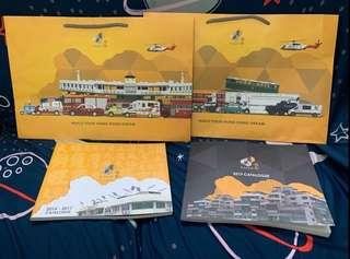 Tiny 微影香港合金車仔 2014-2017 及 2019 Catalogue 目錄及紙袋