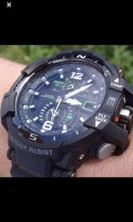 G-Shock Aviation Gravity Defier GWA1100-1A3 Watch (Not Longines, Omega, Tissot, Tag Heuer, Hamilton)