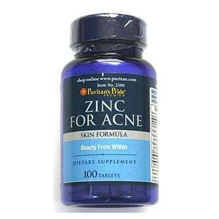 Zinc for Acne a skin formula expiry 06/20