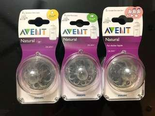 New Avent Natural teats