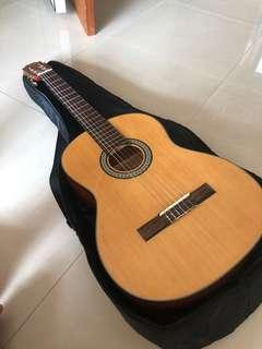 Classic and acoustic guitar
