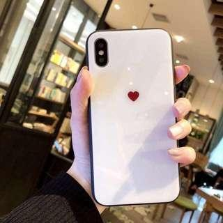 iPhone Heart Glass Casing [PO]