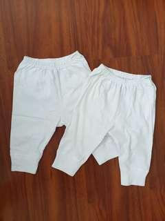 St Patrick White Pants 3-6mos