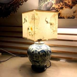 *LIMITED EDITION* Chinoiserie (Canvas + Porcelain Lamps)