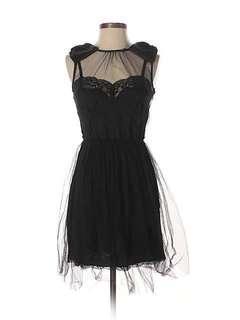 Delicate RODARTE Black Tulle Bow Dress XS