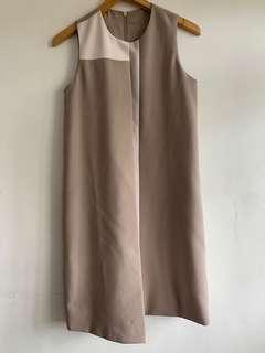 CLN sleeveless beige dress