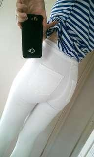 Top shop white Joni Jeans