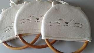 🚚 貓咪擦手巾掛環(3個)
