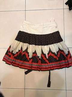 French Connection Skirts with beautiful prints and back ribbon