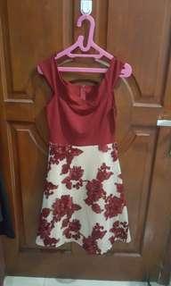 Maroon flower dress 2