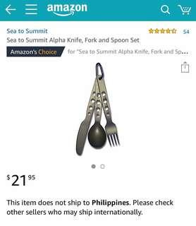 Sea to Summit Alpha Knife, Fork and Spoon Set