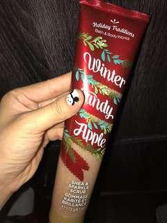 Bath & Body Works Body scrub ; winter candy apple