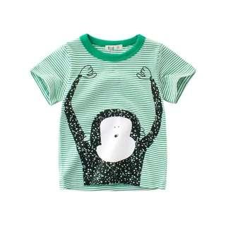 💗 Ready Stock💗 1-10 Years Baby Kids T-Shirt Boys Short Sleeved Cotton Top