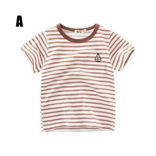 💗 Ready Stock💗 1-10 Years Children T-Shirt Boys Short Sleeved Cotton  Clothes