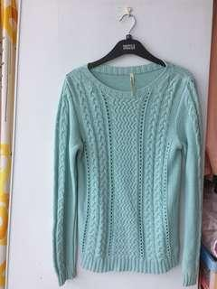 Tiffany blue sweater 藍綠色棉上衣