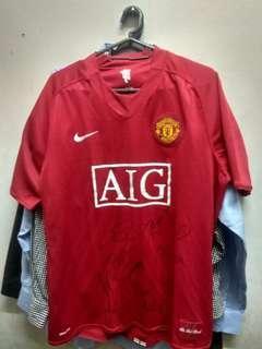 Original Manchester United 2008 Signed Jersey