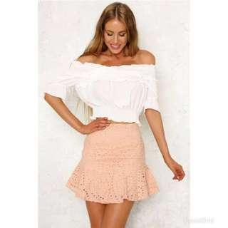 HELLO MOLLY skirt in blush (size 12)