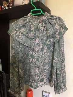 Ruffle blouse korean