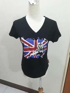 🚚 全新質感黑色棉質上衣 女生棉t 短袖上衣t恤