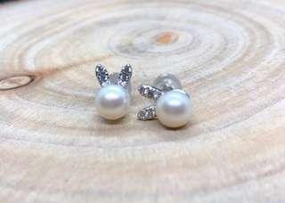 🚚 小兔子珍珠耳環