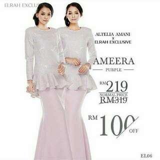 Altelia Amani X Elrah Exclusive Ameera Kurung
