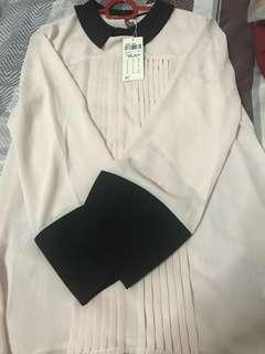 🚚 Bysi peach blouse size s brand new