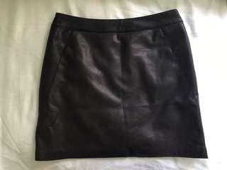 River Island Faux Leather skirt