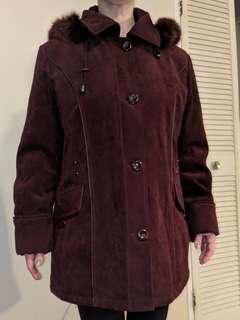 XL BURGUNDY coat