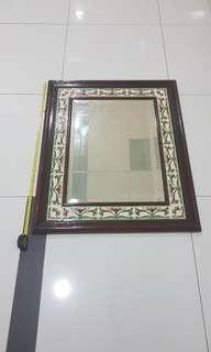 🚚 Vintage Big Peranakan Mirror.
