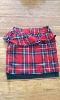 Tartan miniskirt
