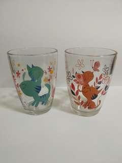 Glass Cup with cat design from Kitkat