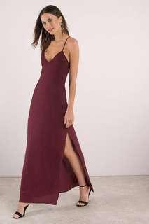Wine maxi ball dress