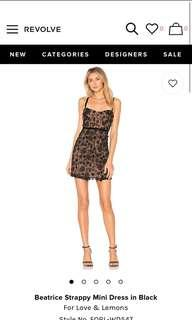 🚚 Beatrice Strappy Mini Dress in Black For Love & Lemons